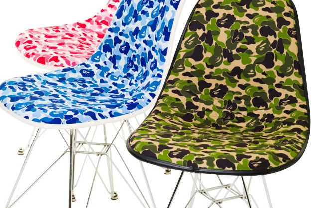 Great A Bathing Ape X Cover It All BAPE Camouflage Fiberglass Shell Chair