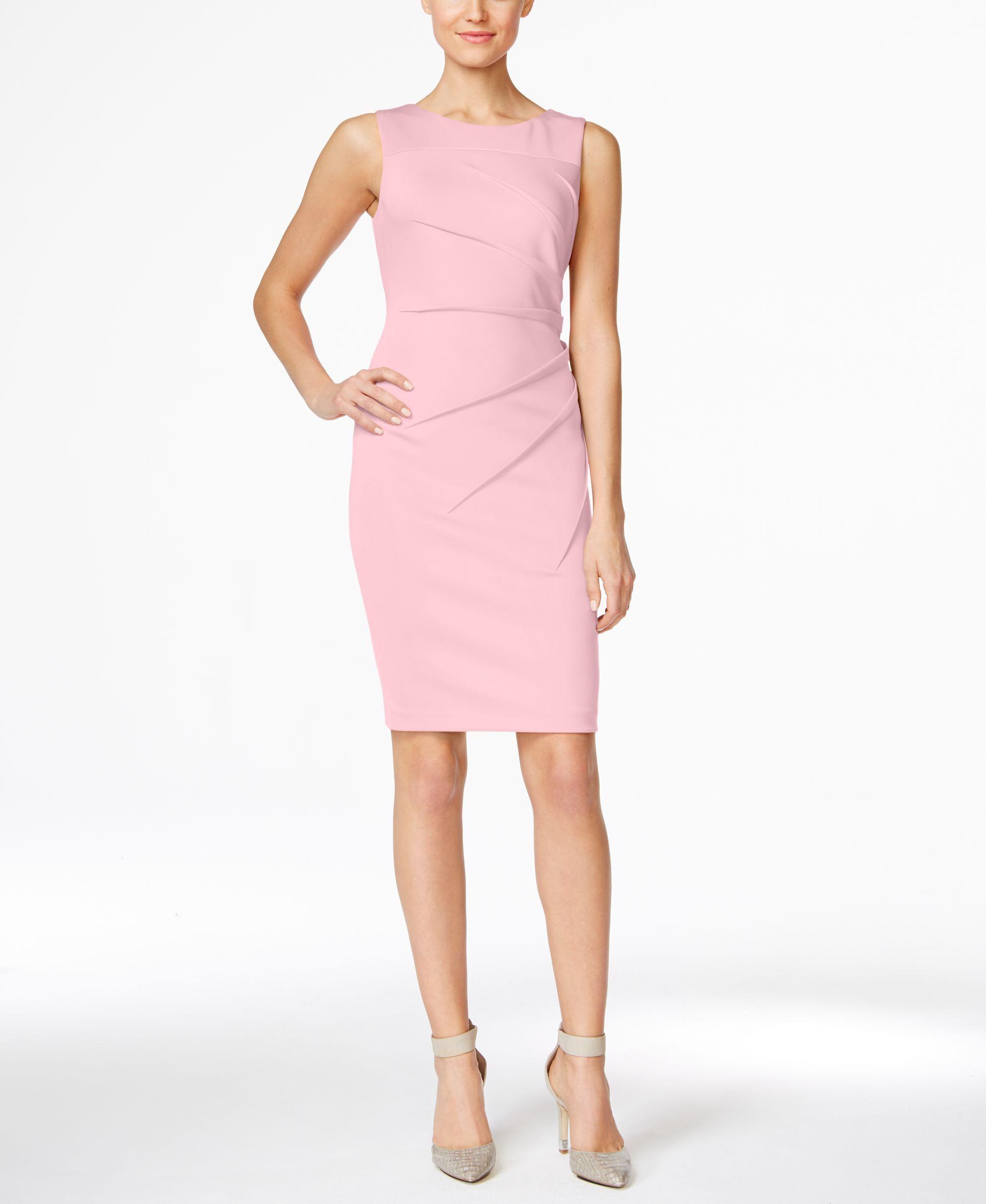 Calvin Klein Starburst Sheath Dress Sleeveless Sheath Dress Dresses For Work Work Dresses For Women