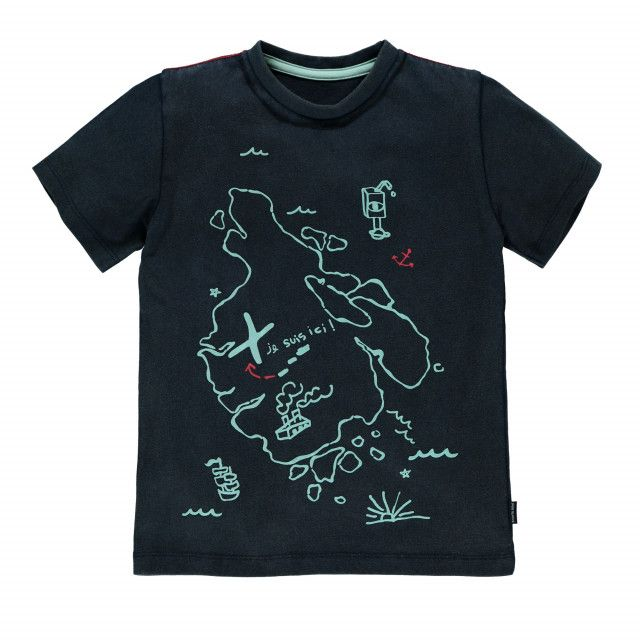 Imagine, Dream And Explore Short Sleeve T-shirt Navy / T-shirt à manches courtes Souris Mini