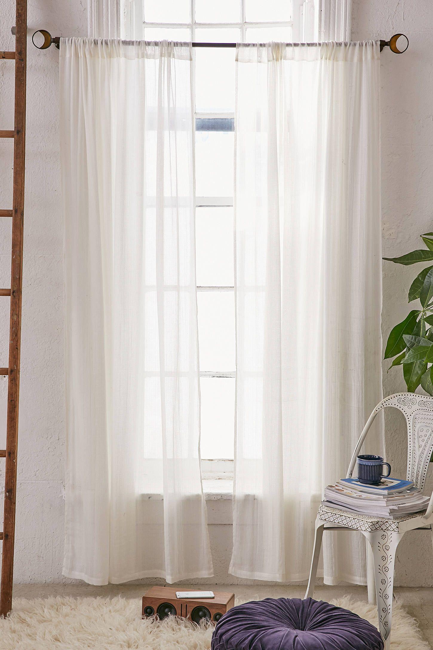 Chloe Gauze Curtain Ivory Curtains Curtains Wood