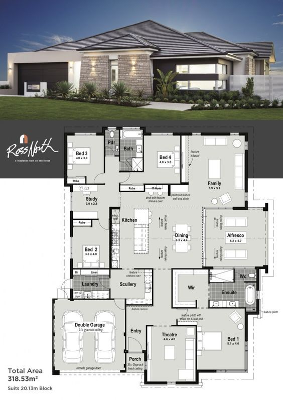 The Odyssey Single Storey Display Home Ross North Homes Perth My House Plans House Layouts Modern House Plans