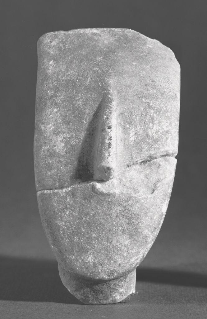 Head c. 2500 BC-2000 BC. Cyclades Marble