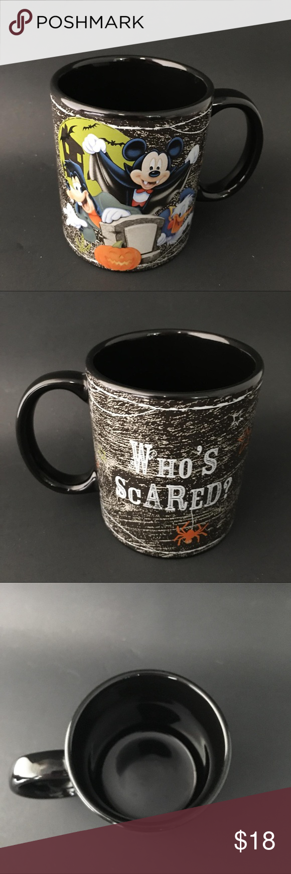 Disney Mickey Halloween Mug Who's Scared A02 Disney Mickey Halloween Mug Who's Scared. Great Condition Disney Kitchen Coffee & Tea Accessories #disneykitchen