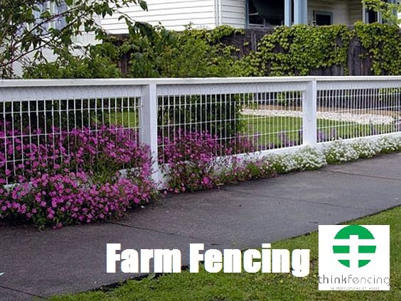 Farm Fencing In 2020 Farm Fence Backyard Fences Front