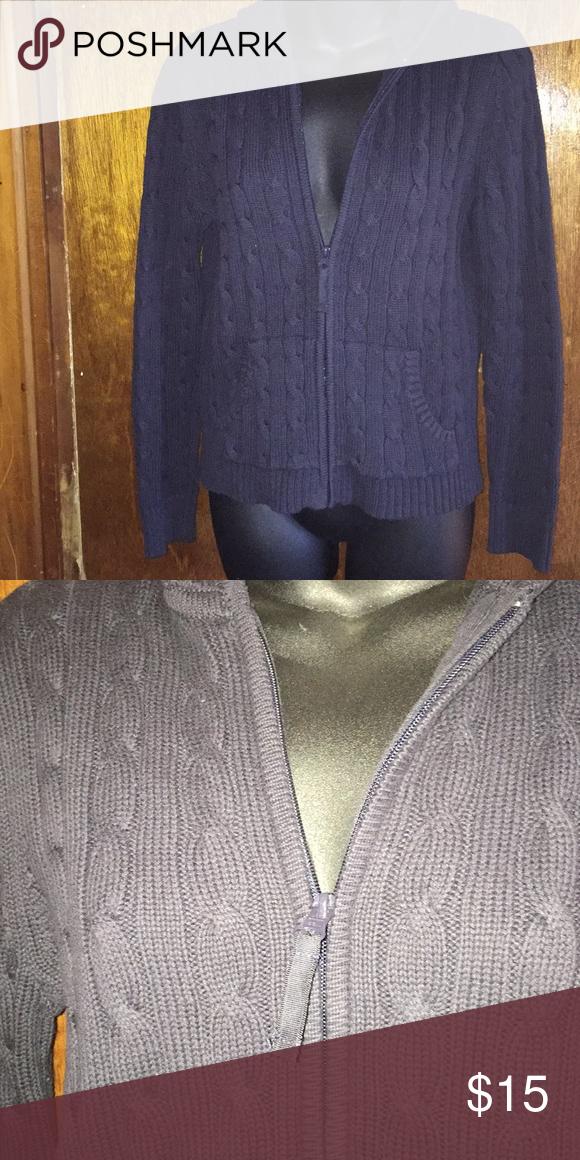 John Womens Wool Cardigan Blue St S