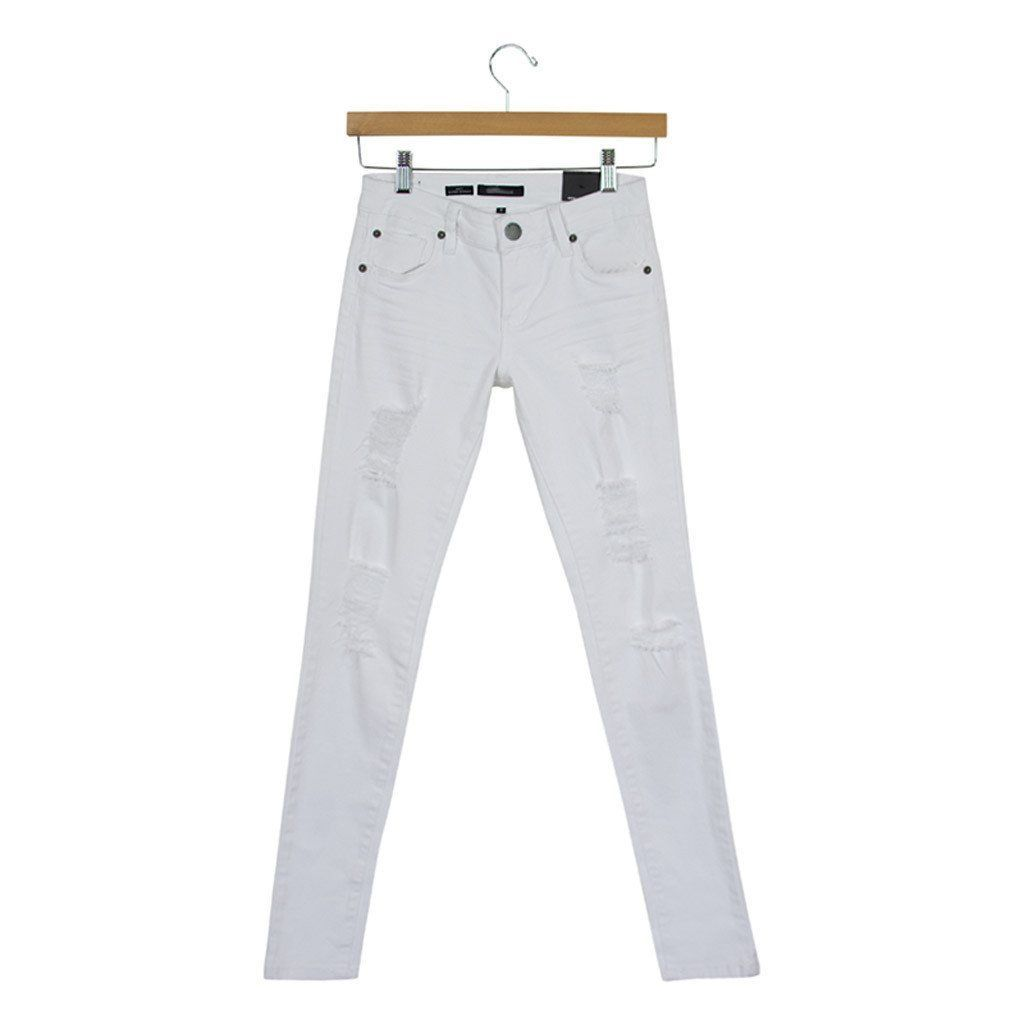 Amy Distressed White Skinny Jeans
