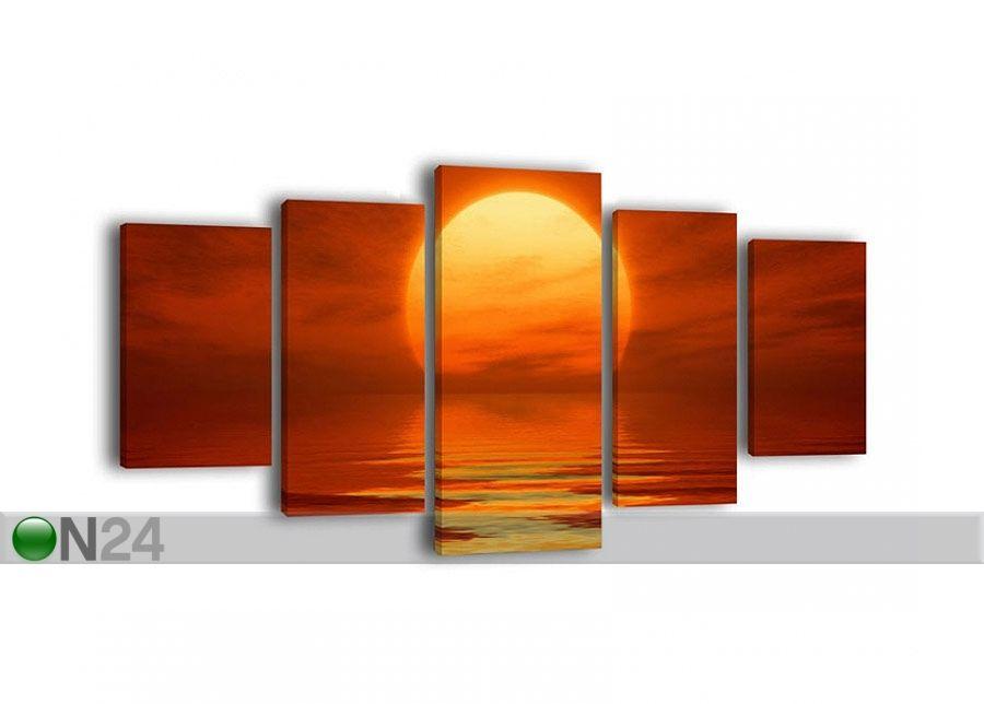 Viisiosainen paneeli seinätaulu RED SUNSET 210x100 cm ED-65438 - ON24 Sisustustavaratalo