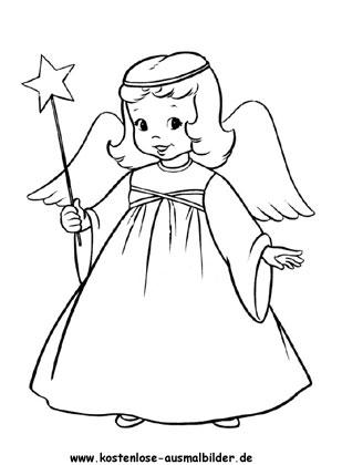 Ausmalbild Engel Engel Zum Ausmalen Weihnachtsmalvorlagen Ausmalbilder