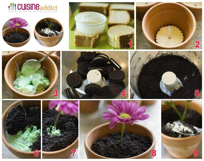 le pot de fleur comestible base d 39 oreo astuces. Black Bedroom Furniture Sets. Home Design Ideas