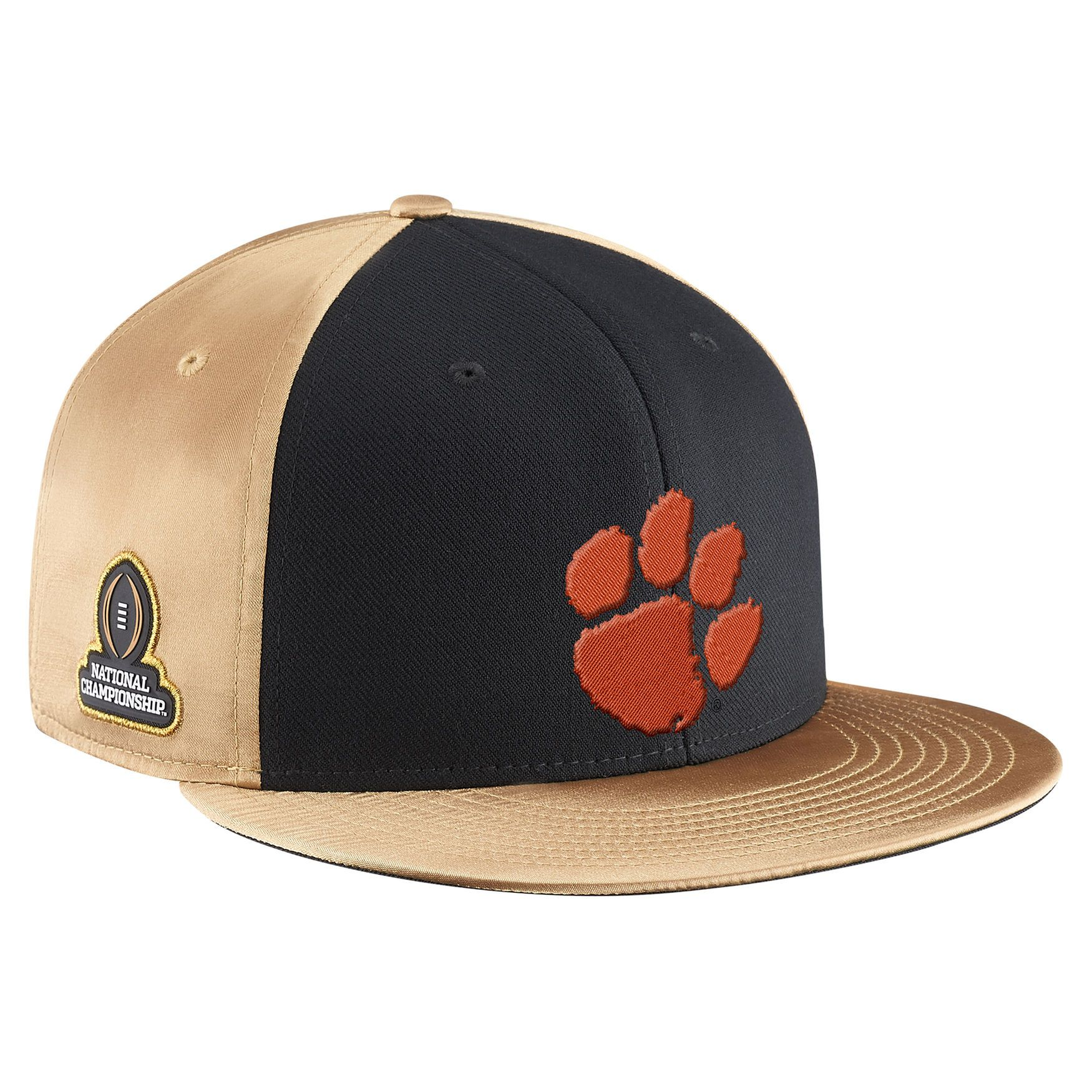 Mens Nike Black Vegas Gold Clemson Tigers College Football Playoff 2016 National Champions Locker Room PlayoffBaseball HatsSnapback