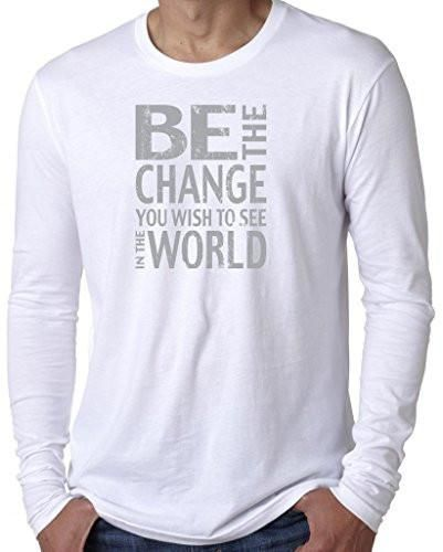 Yoga Clothing For You Mens Be The Change Long Sleeve Tee