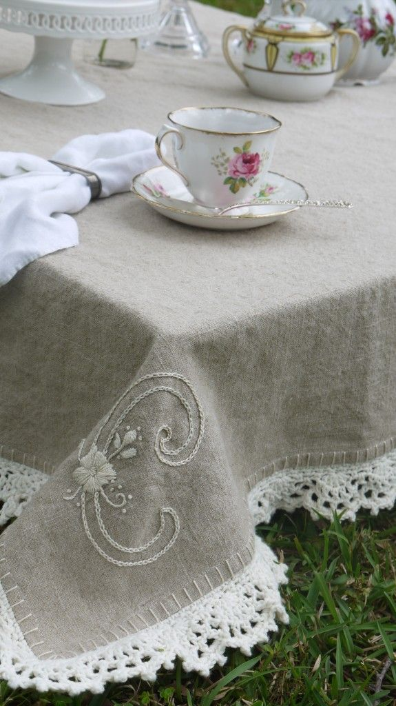 Simple Luxury How To Add A Crochet Edge To Linen 3 Free Patterns