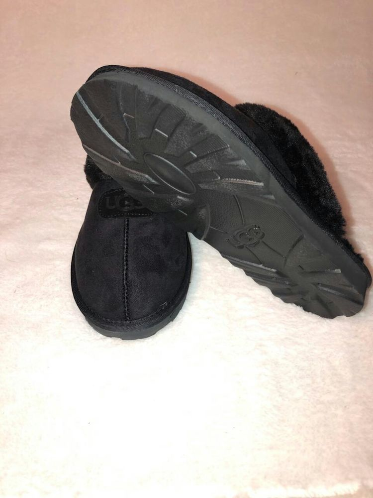 034a8ff7689 UGG Australia Coquette Women's Black Suede Slip On Mule Slippers ...