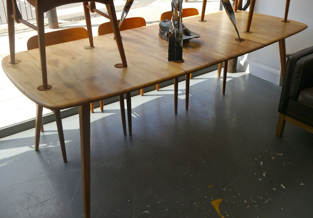 Vintage Ercol Grand Windsor Plank Extending Dining Table In Antiques Antique Furniture Tables