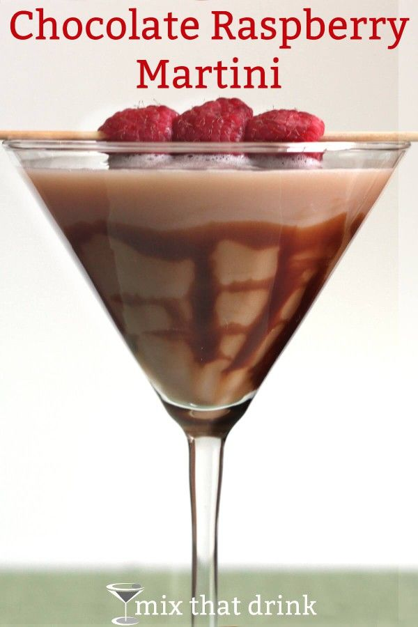 Chocolate Raspberry Martini Recipe #1 #raspberryvodka