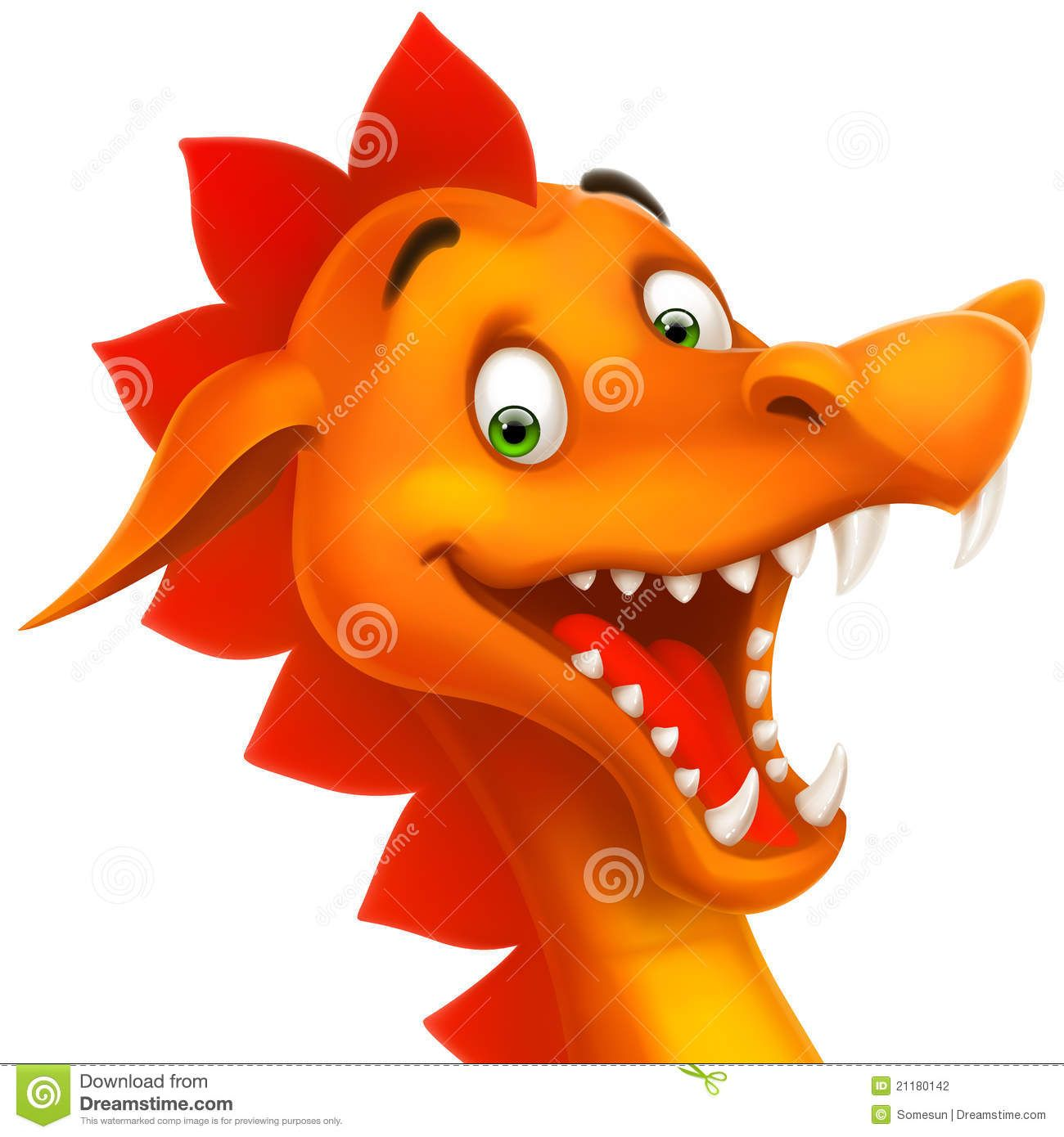 Vector Cute Smiling Happy Dragon As Cartoon Or Toy Stock ...