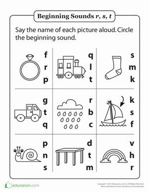Printable Phonics Kindergarten Worksheets