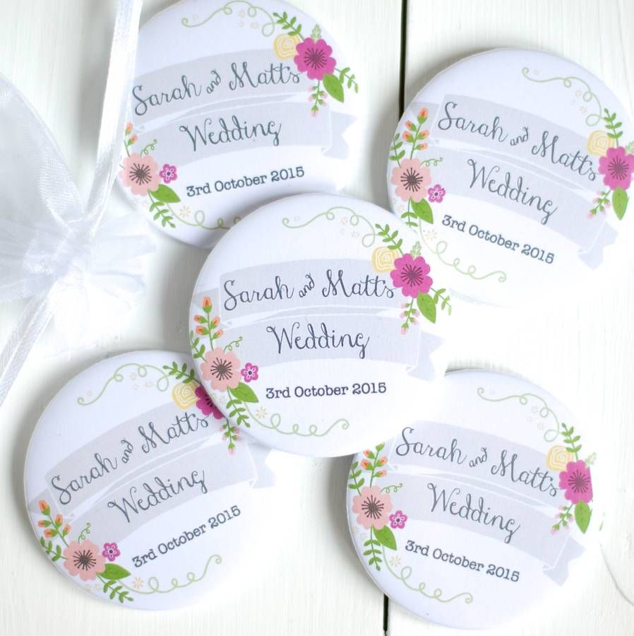 Personalised Pocket Mirror Wedding Favour | Perfect wedding, Favors ...