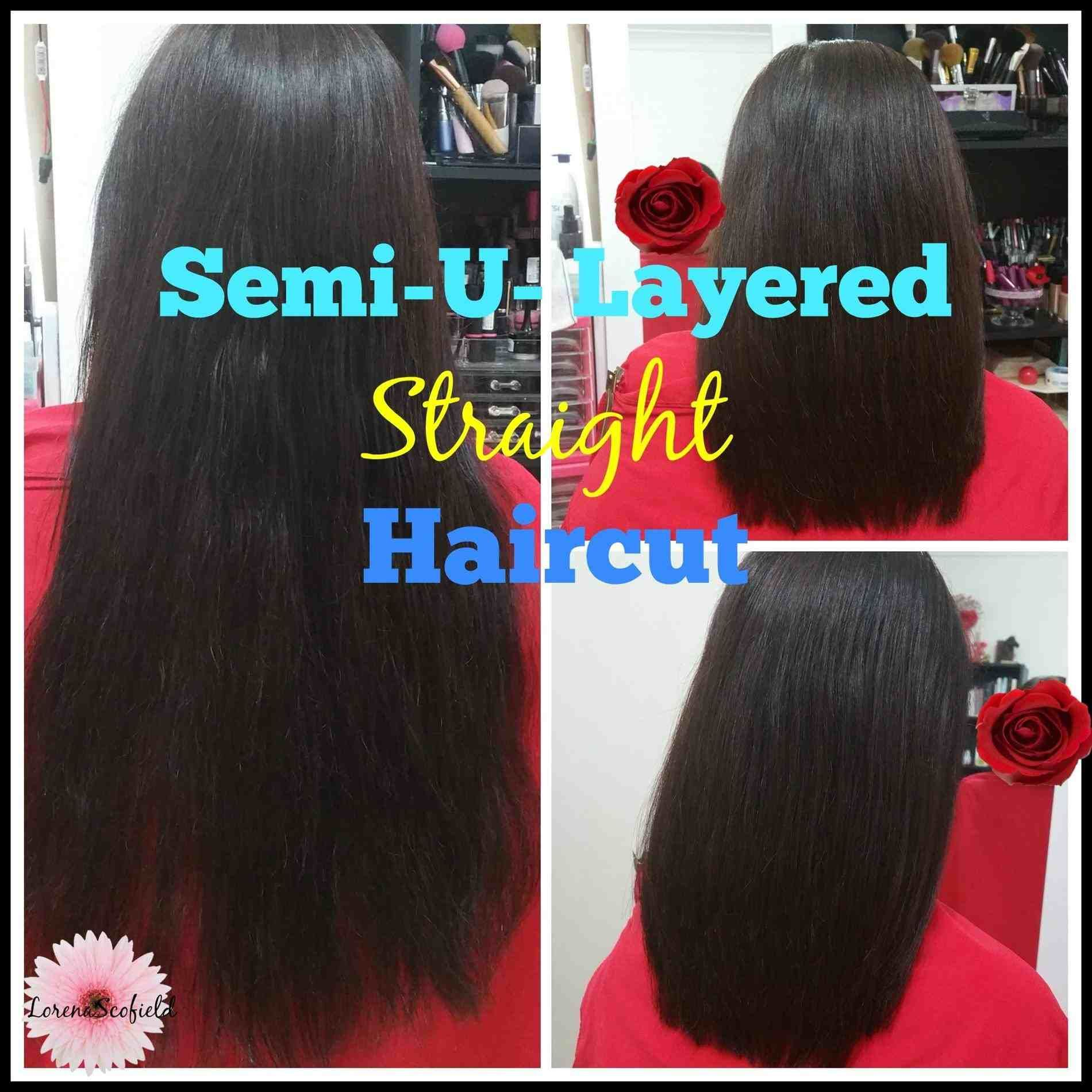 U Shaped Layered Haircut Back View Hair Stylist And Models