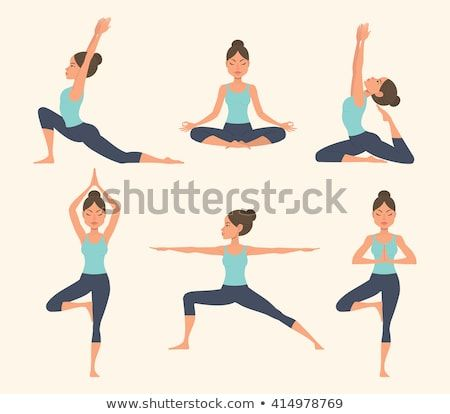 Image vectorielle de stock de Yoga féminin. Illustration vectorielle d'une belle 414978769