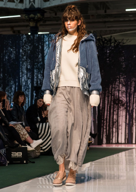 Faux Fur Hooded Zip Jacket With Metallic Trim In 2020 Catwalk Fashion Jackets Fashion 2020