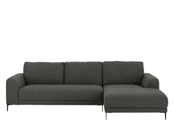 Luciano Right Hand Facing Corner Sofa Hudson Grey Corner Sofa Sofa Grey Corner Sofa