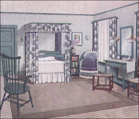 1912 Bedroom designed by Eakin Wallick for Ladies Home Journal