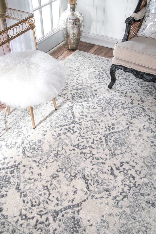 Youati Ivory Gray Area Rug In 2019 Home Decorating