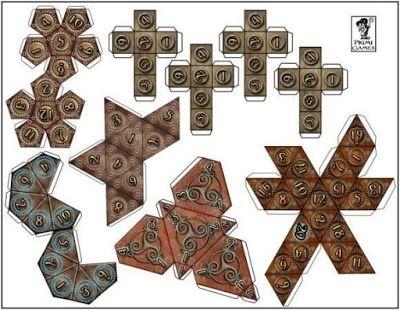 J. Ossorio Papercraft: Papercraft recortable de varias figuras geométrica