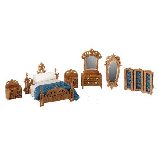 1/144 Scale Victorian Bedroom Furniture Kit   Miniaturas y Mini