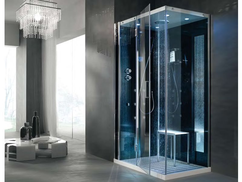 Multifunction Shower Cabin TEMPO AD ANGOLO   HAFRO