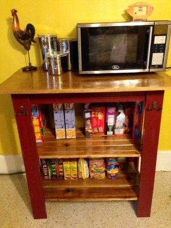 Kitchen Microwave Cart Diy on small kitchen microwave cart, diy kitchen island microwave, diy popcorn cart, diy tea cart, kitchen cabinets microwave cart, diy kitchen rolling cart, diy kitchen island cart, diy kitchen utility cart,
