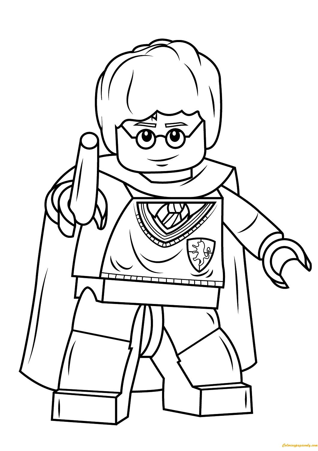 Harry Potter Wands Coloring Pages Download