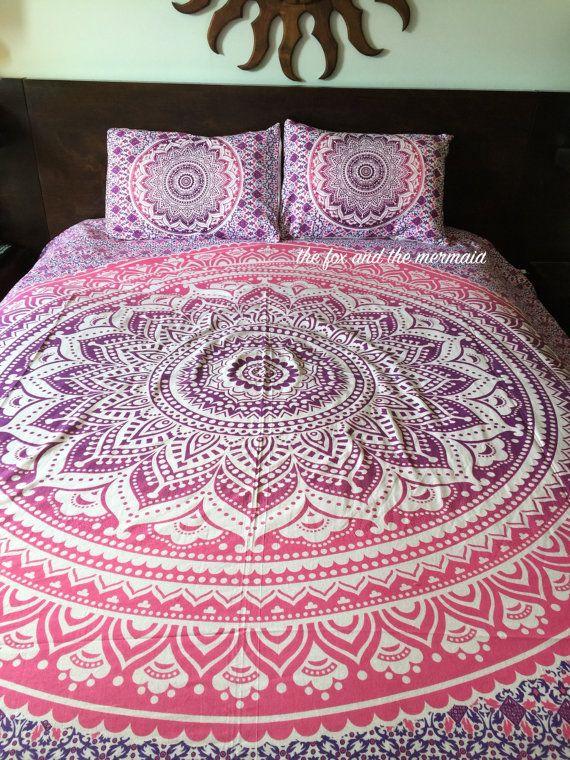 mandala quilt cover and pillowcases boho duvet cover roundie mandala doona cover bohemian