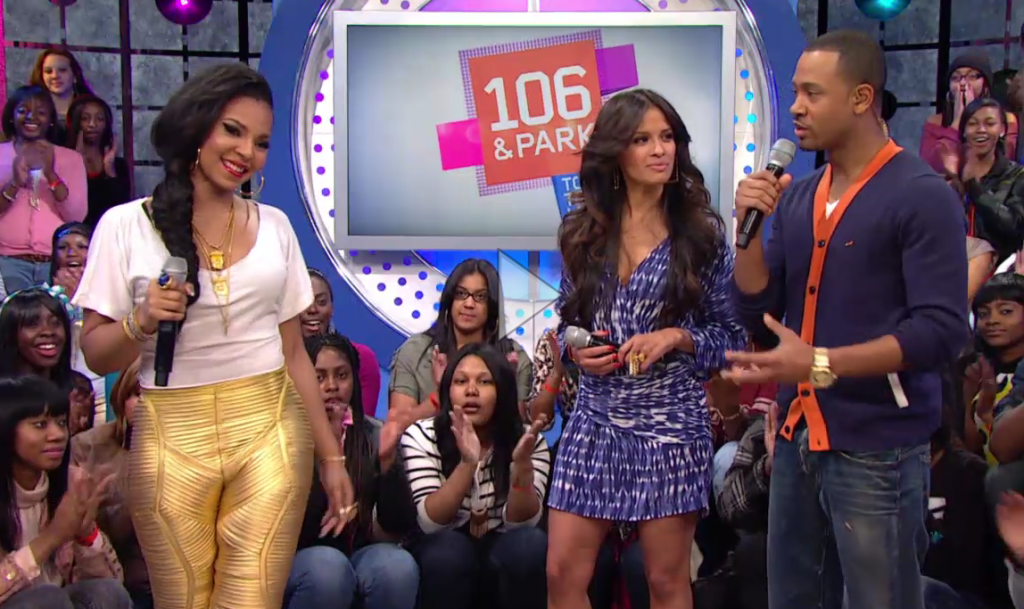 Ashanti Spotted on 106 & Park Rocking Jad Ghandour...
