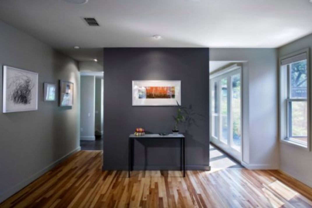 Dark Grey Accent Wall With Light Grey Walls Someday When