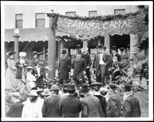 President Theodore Roosevelt on a visit to South Pasadena, 1903 :: California Historical Society