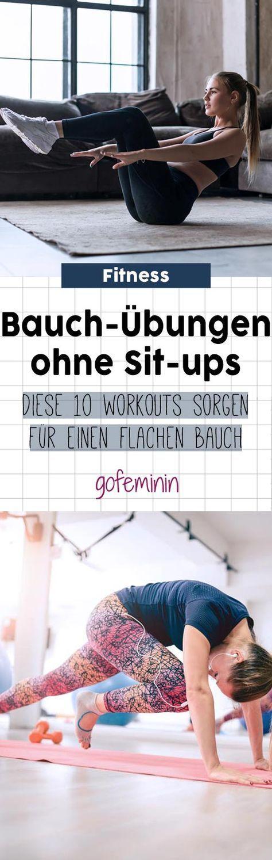 Die 10 besten Übungen für einen flachen Bauch – ganz ohne Sit-ups! #schlankaussehen Diese Bauch-Übun...