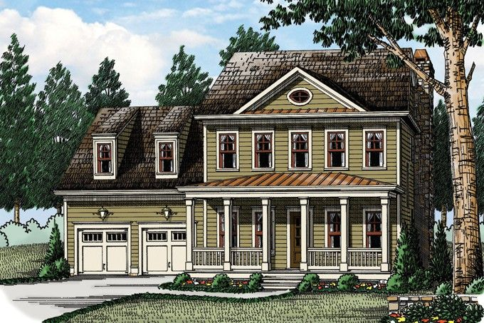 Traditional Style House Plan 4 Beds 2 5 Baths 2442 Sq Ft Plan 927 955 Colonial House Plans Colonial House Traditional House