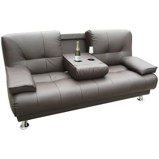 Sectional Sofas Convertible Canbar marron Canap bar converti u Achat Vente canap sofa