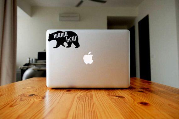 Mama Bear Vinyl Decal Mom Laptop Sticker Custom Phone Sticker - Custom vinyl decals for laptop