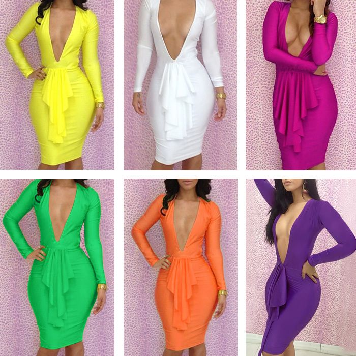 Free Shipping New Arrival Hot Sale Bandage Dress Colorful Women Clothing  Bodycon Hollow Out Women Dress Club Wear 47b04a0d6