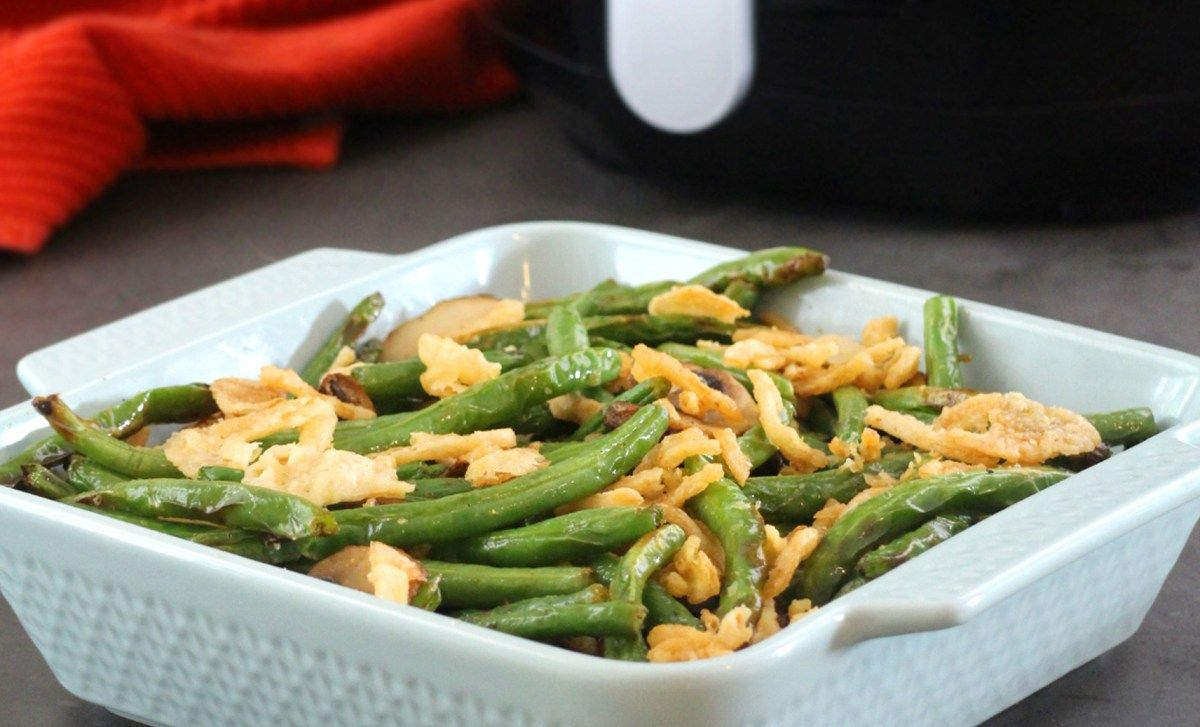 Perfect Air Fryer Roasted Green Beans and Mushrooms Easy