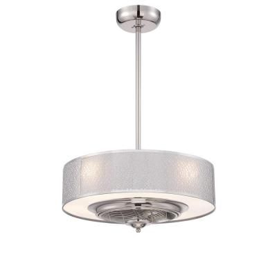 World Imports Cozette Collection 24 in. Indoor Satin Nickel Ceiling ...