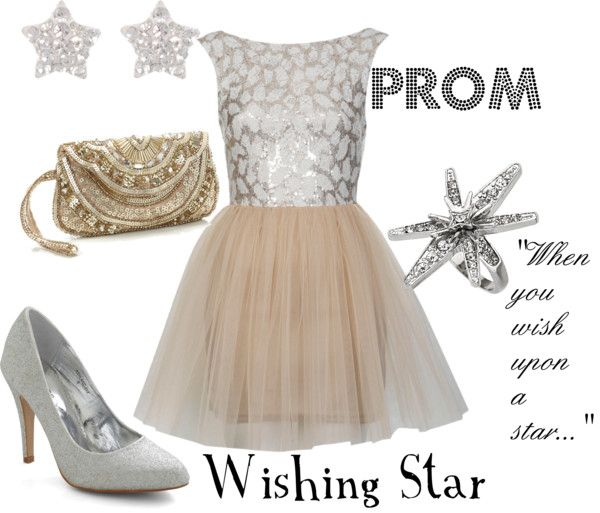 """Prom: Wishing Star"" by disneydiva305 ❤ liked on Polyvore"