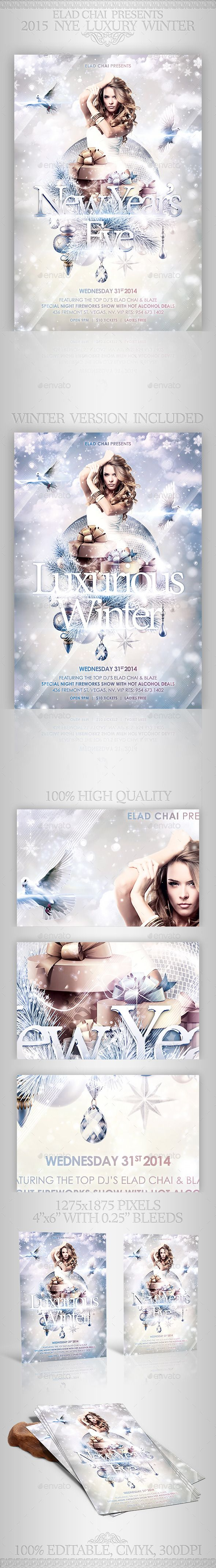 Nye Luxury Winter Flyer Template  Flyer Template Nye And