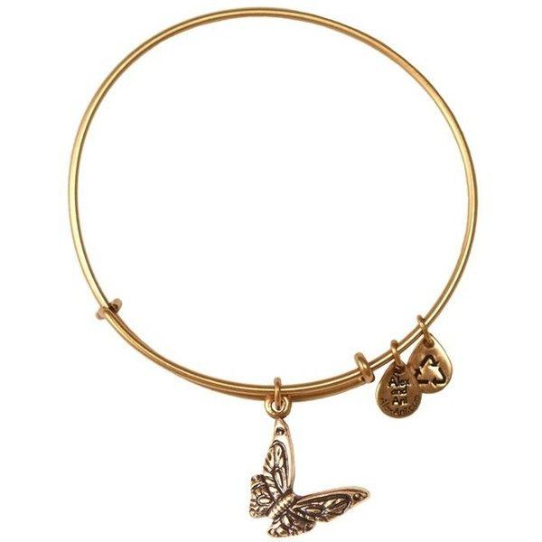 Butterfly Expandable Wire Bangle | Rafaelian Gold ($28) ❤ liked on Polyvore featuring jewelry, bracelets, gold, butterfly jewelry, expandable wire bangle, bangle bracelet, alex and ani bangles and expandable bangle bracelet