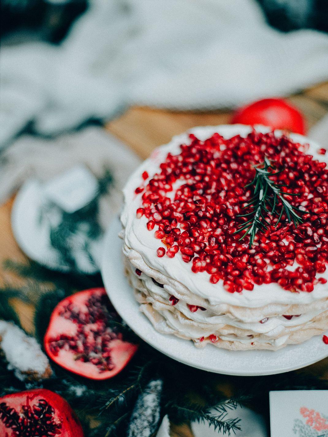 Granatapfel Pavlova Torte Rezept Von Silvia Fischer Echte