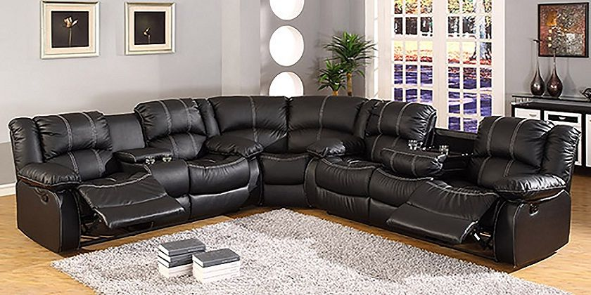 Leather Sectional Sofas With Recliners And Cup Holders