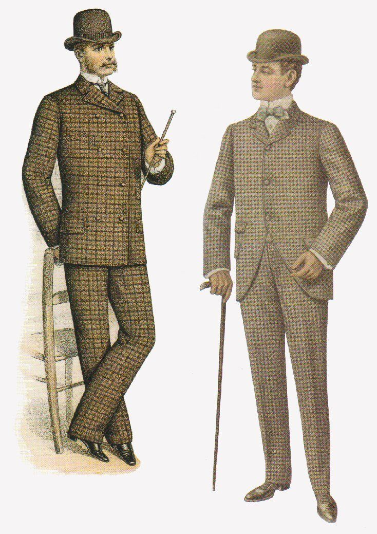 1890s double breasted suit - Google Search | 19th century clothing ...